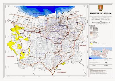 Peta Rencana Kawasan Peruntukan Hutan Produksi Kota Semarang