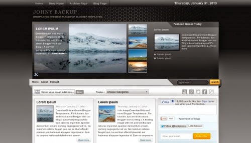 johni backup gallery blogger template 2014 for blogger or blogspot