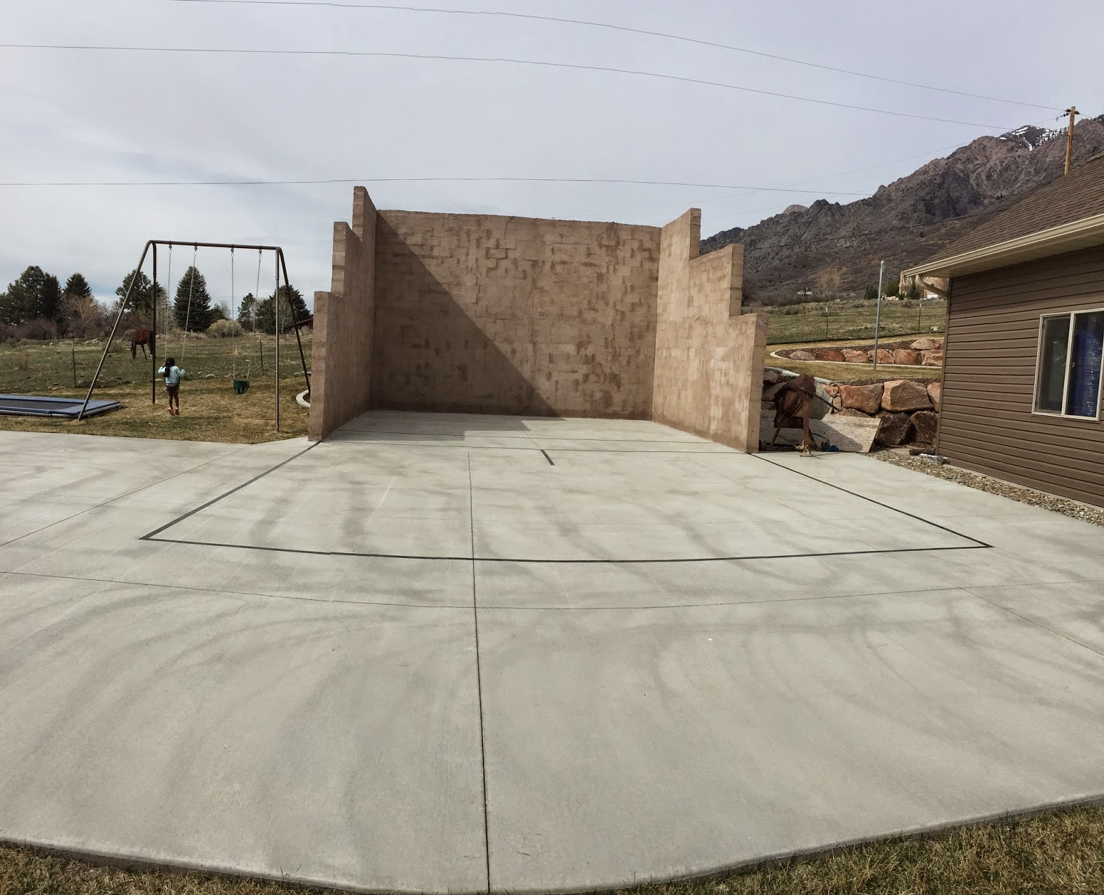 diy projects building an outdoor racquetball court