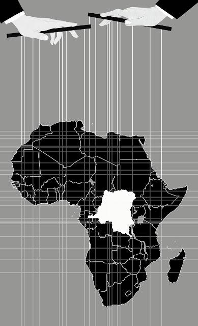 Congo, colonización, fronteras, lineas rectas