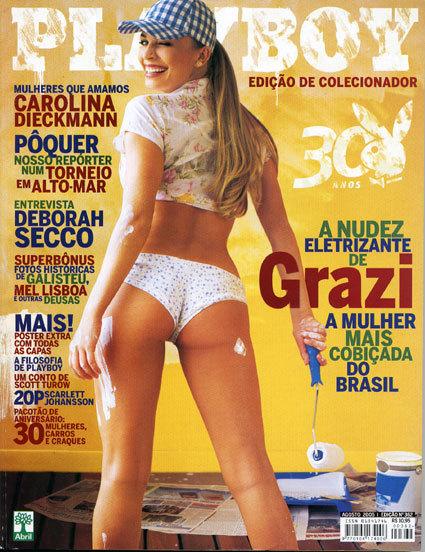 posou nua para a revista playboy onde foi capa da edição especial de