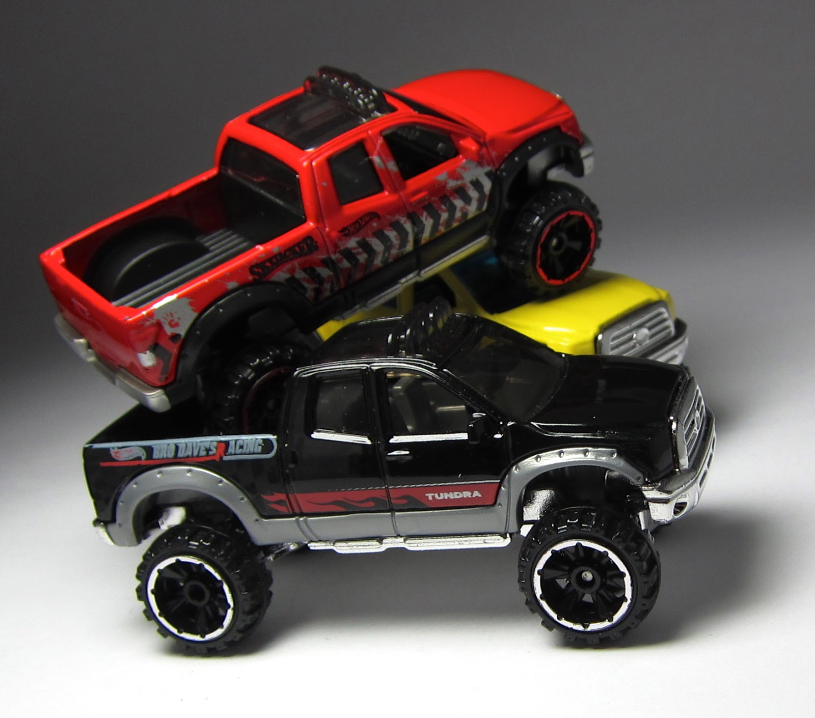 the lamley group first look a pair of hot wheels toyota trucks. Black Bedroom Furniture Sets. Home Design Ideas