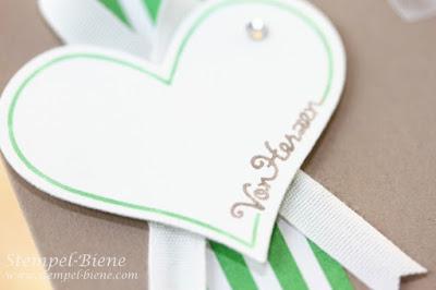 Stampin Up Mit Liebe geschenkt, Stampin Up Katalog 2015-2016, Katalogbeigabe Stampin Up, Stempel-biene, Herzkarte, Minikarte basteln, Demonstrator werden, Stampin Up Bestellung