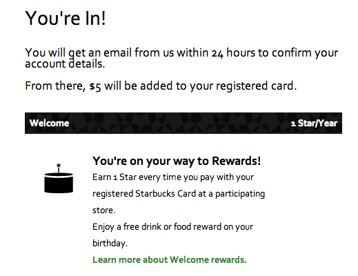 Free Is My Life Free 5 Credit For Registering Your Starbucks Gift