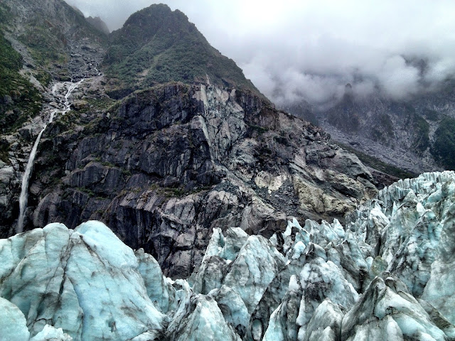 The rugged landscape of the Fox Glacier, New Zealand