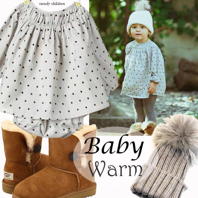 trendy children vestido bebé ranita estrellas piupiuchick botas ugg australia