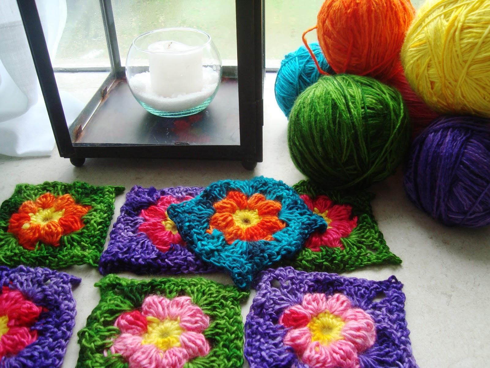 Nueva gaia cuadraditos crochet tutorial - Cuadraditos de crochet ...