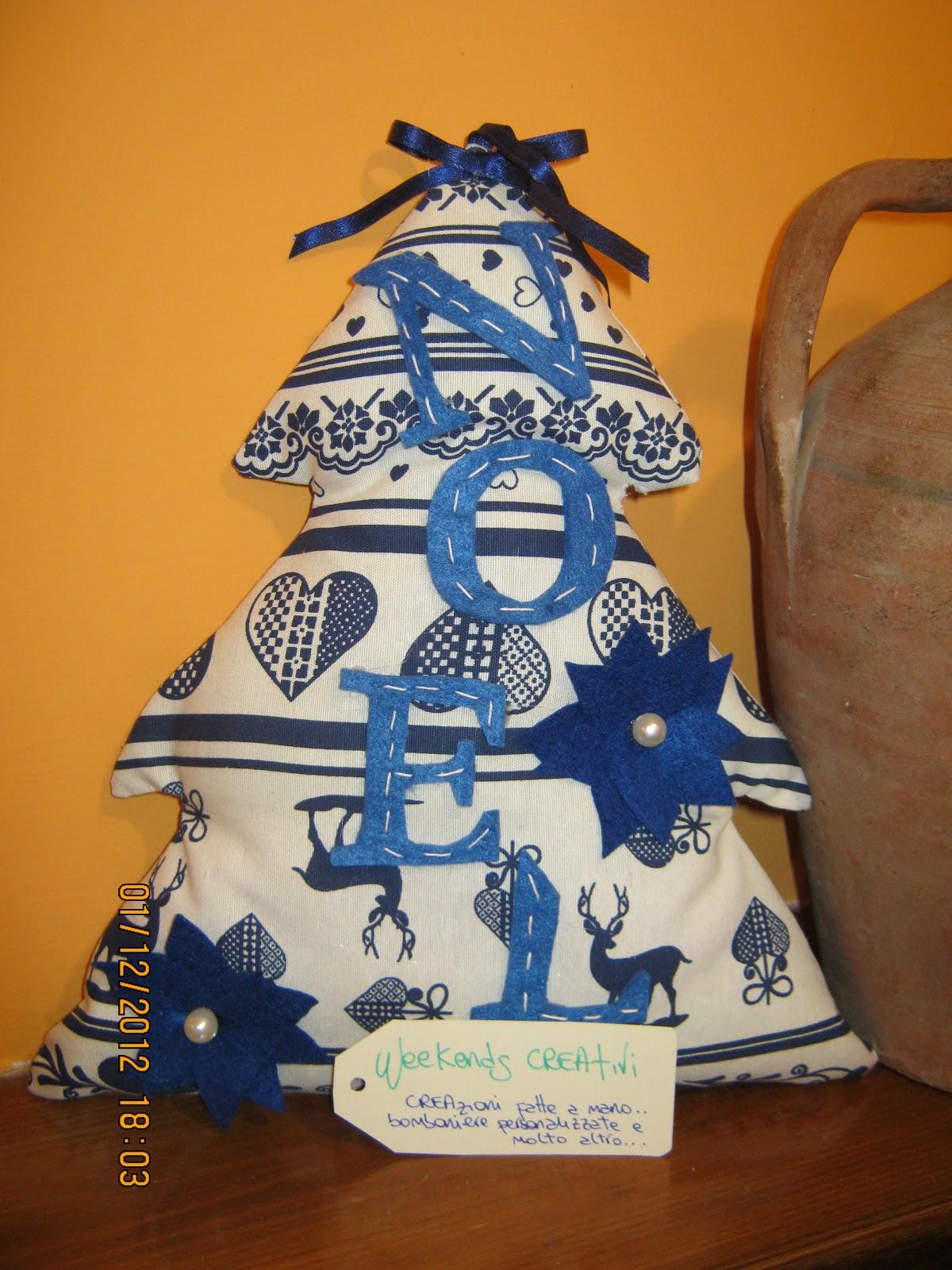 Eccezionale Week- ends CREAtivi: Alberi di Natale di Stoffa e Feltro! LO78