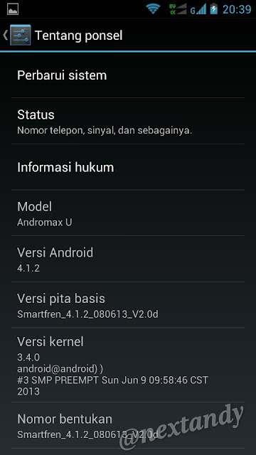 Smartfren Andromax U Update Android 4.1.2 Jelly Bean