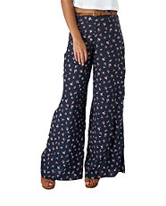 widelegged floral trousers