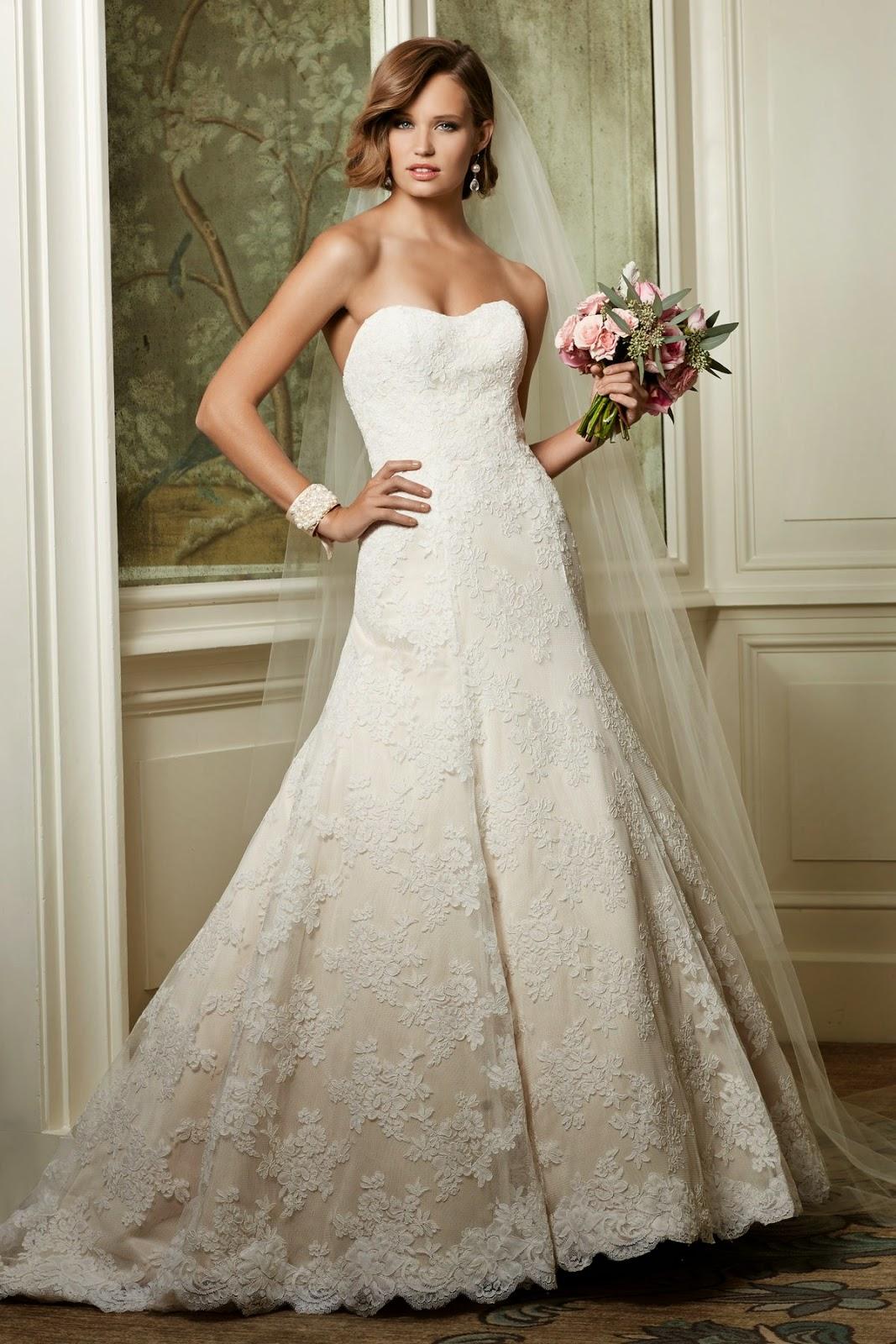 Los mejores vestidos de novia para mujeres bajitas