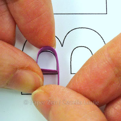 how to quill quilling letters typography monogram