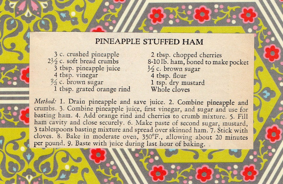 Pineapple Stuffed Ham (quick recipe)