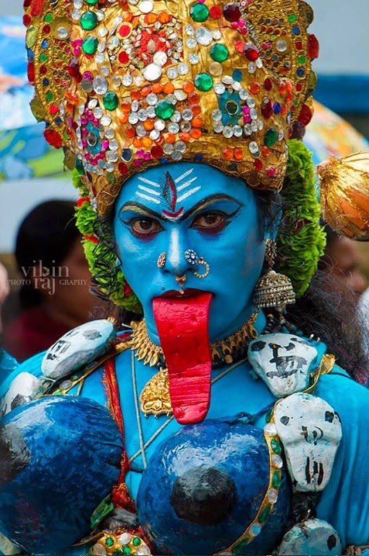 Puli Kali procession at 'Athachamayam' in Tripunithura, Kerala (photo by Vibin Raj)