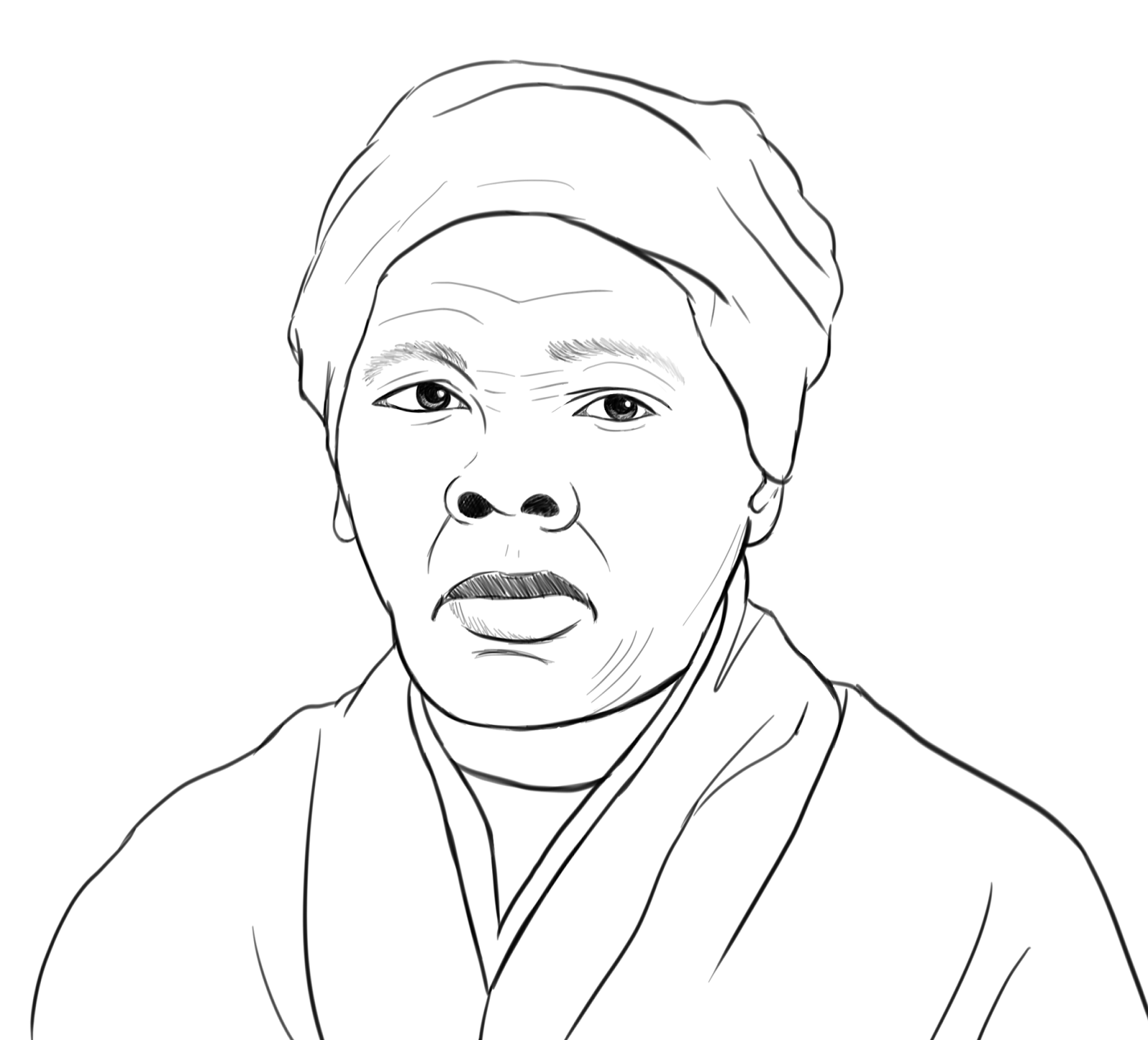 Coloring Page Harriet Tubman Picture