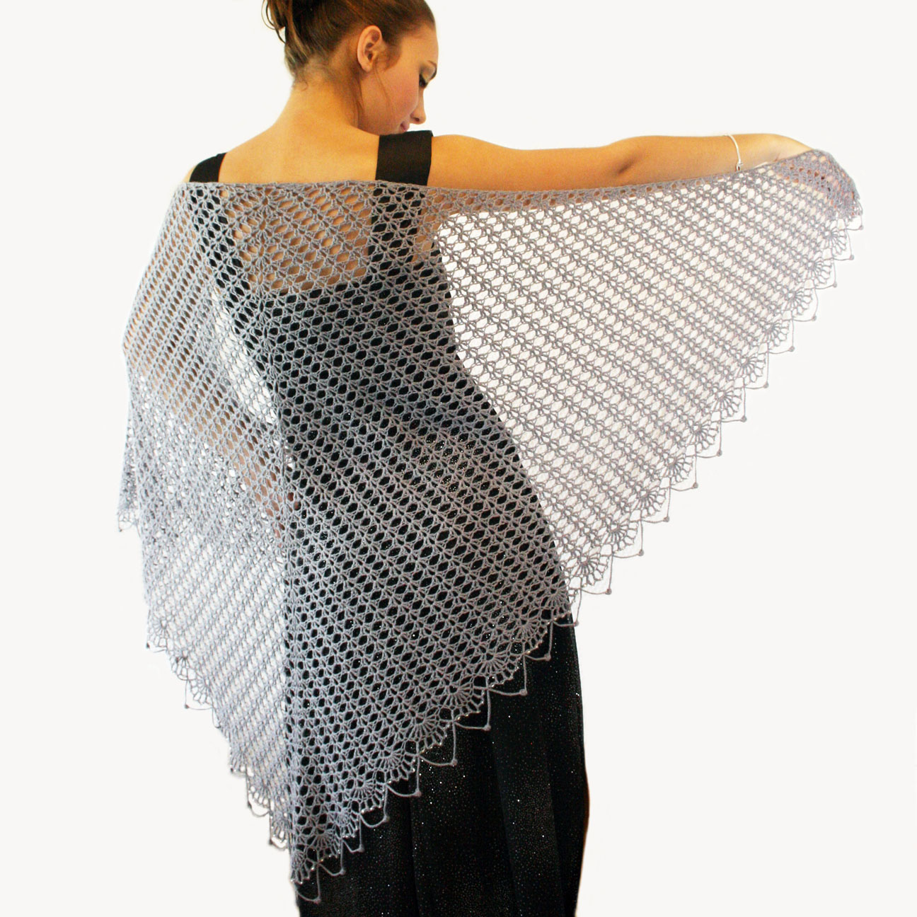 knot•sew•cute design shop: new crochet pattern - wrapped in lace shawl.