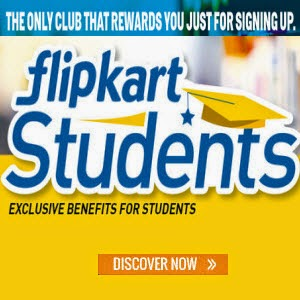 Flipkart Students – Rs. 150 off on Rs. 750 on all & upto 10% off