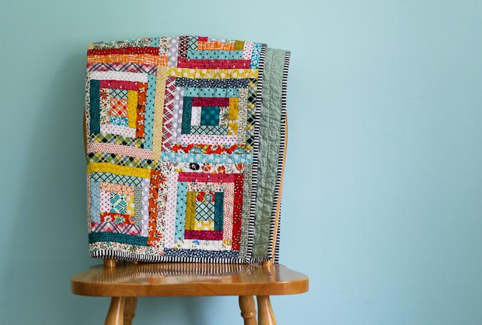 Blue is Bleu: Scrappy Log Cabin Baby Quilt : log cabin baby quilt pattern - Adamdwight.com