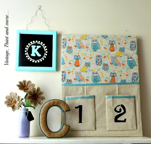 Vintage, Paint and more... DIY Dorm Decor - made from thrift store and recycled trash