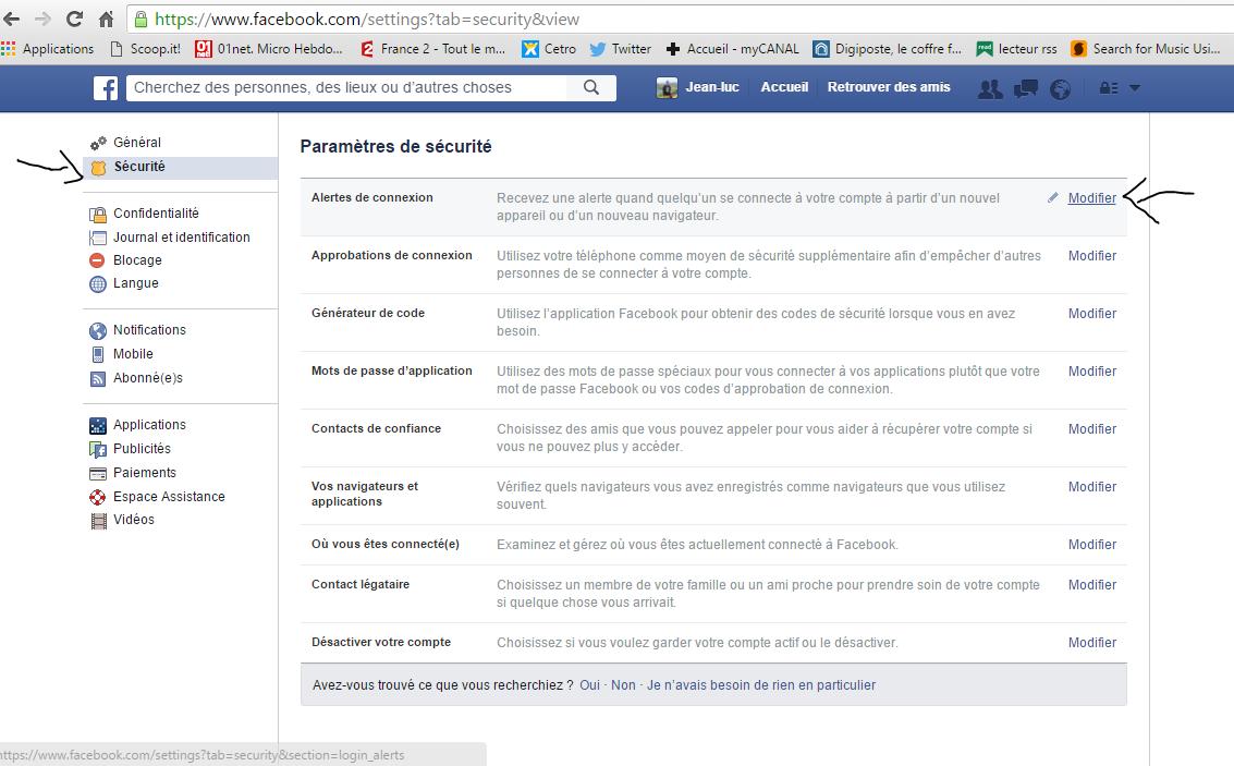 Mon pc les tuyaux d 39 ecto s curiser son compte facebook - Les 3 suisses mon compte ...