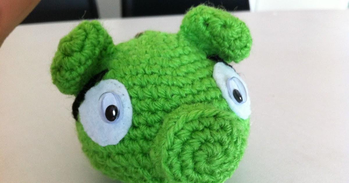Cerdo Angry Birds Amigurumi : Mi mundo y Punto: Llavero cerdo Angry Birds, amigurumi