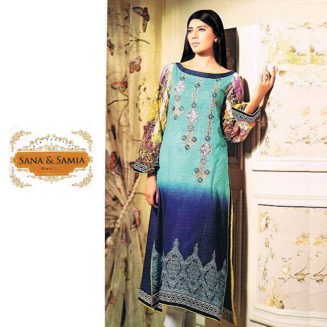 Sana & Samia – Glass Cotton With Embroidery Wrok Suppliers