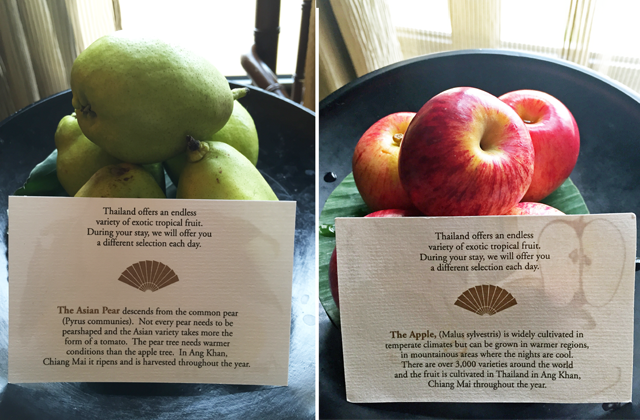 Turndown Service Fruit at Mandarin Oriental Bangkok