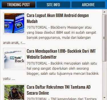 Cara Membuat Scroll Pada Widget Popular Post