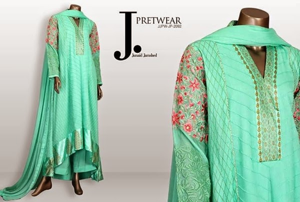J.Jamshed Girls Eid Pret Kurti Collection 2014