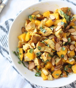 Curry Chicken Mango Salad recipe by seasonwithspice.com