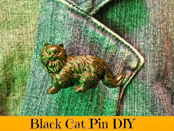 Black Cat Pin DIY