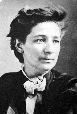 Victoria Claflin Woodhull the first woman candidate for  President of the United States in 1872  from the Equal Rights Party supporting women's suffrage.