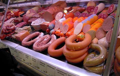 carnes procesadas comida basura salchichas embutidos