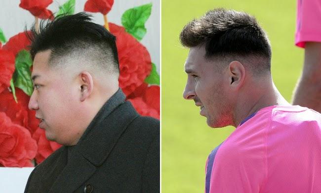 Gaya rambut terbaru Messi ala ala Kim Jong un