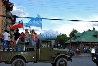 Chilean Election Night - Pucon, Chile