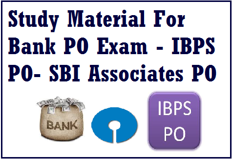 ibps po exam paper 2013,, ibps po solved paper, ibps po previous question paper, study material for bank po exam