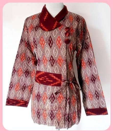 model baju batik kerja