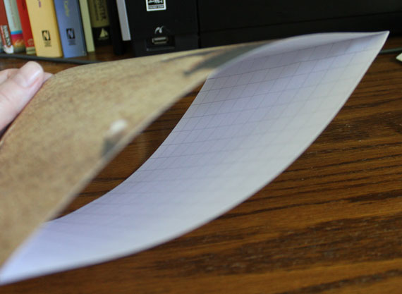 folded paper book page sleeve