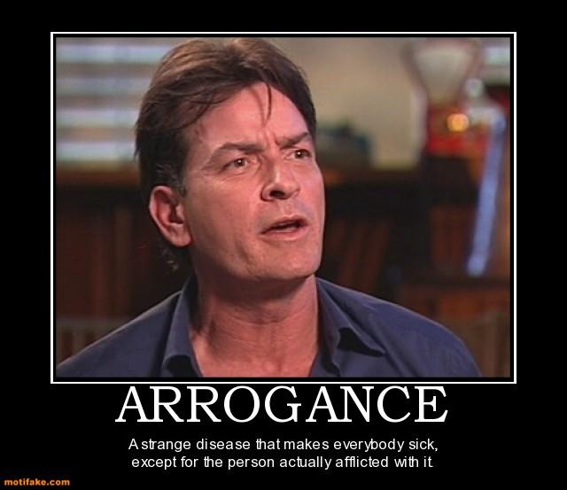 Arrogant people suck