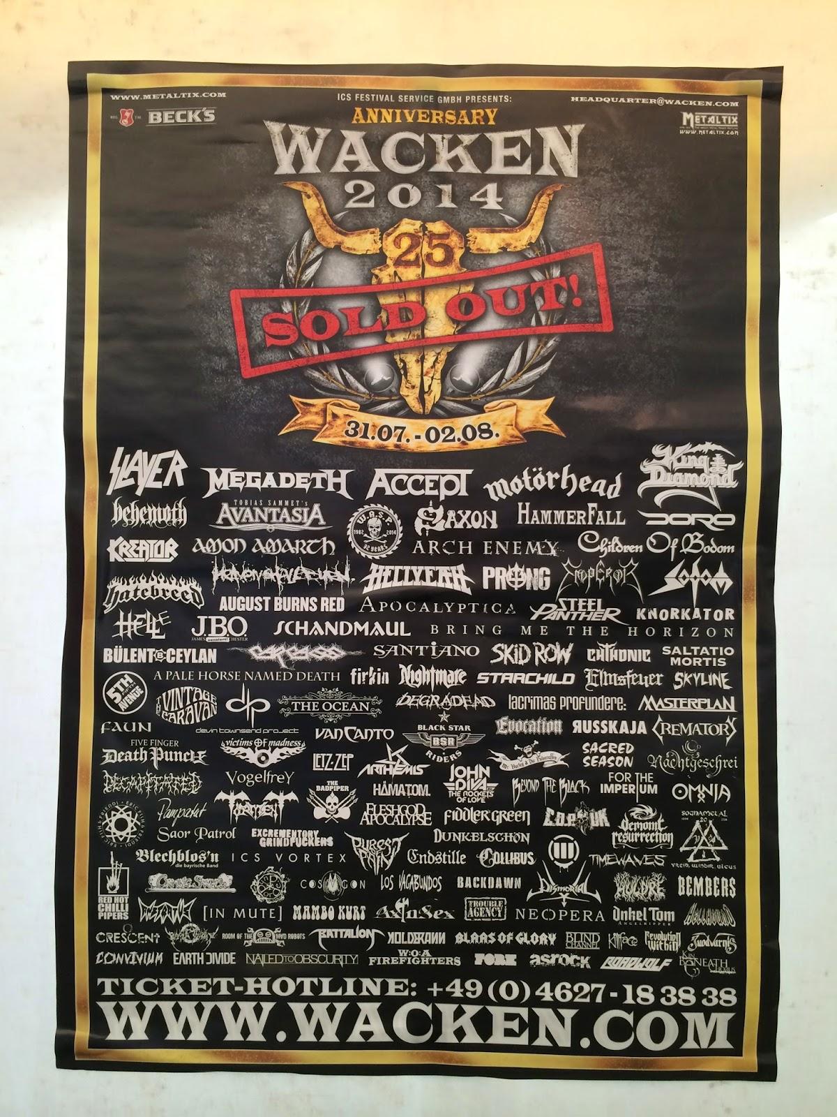 2013 up wacken line Wacken Open