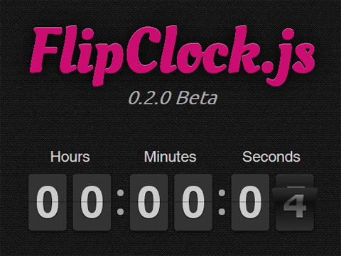 A jQuery Plugin For Good-Looking Clocks And Countdowns – FlipClock.js