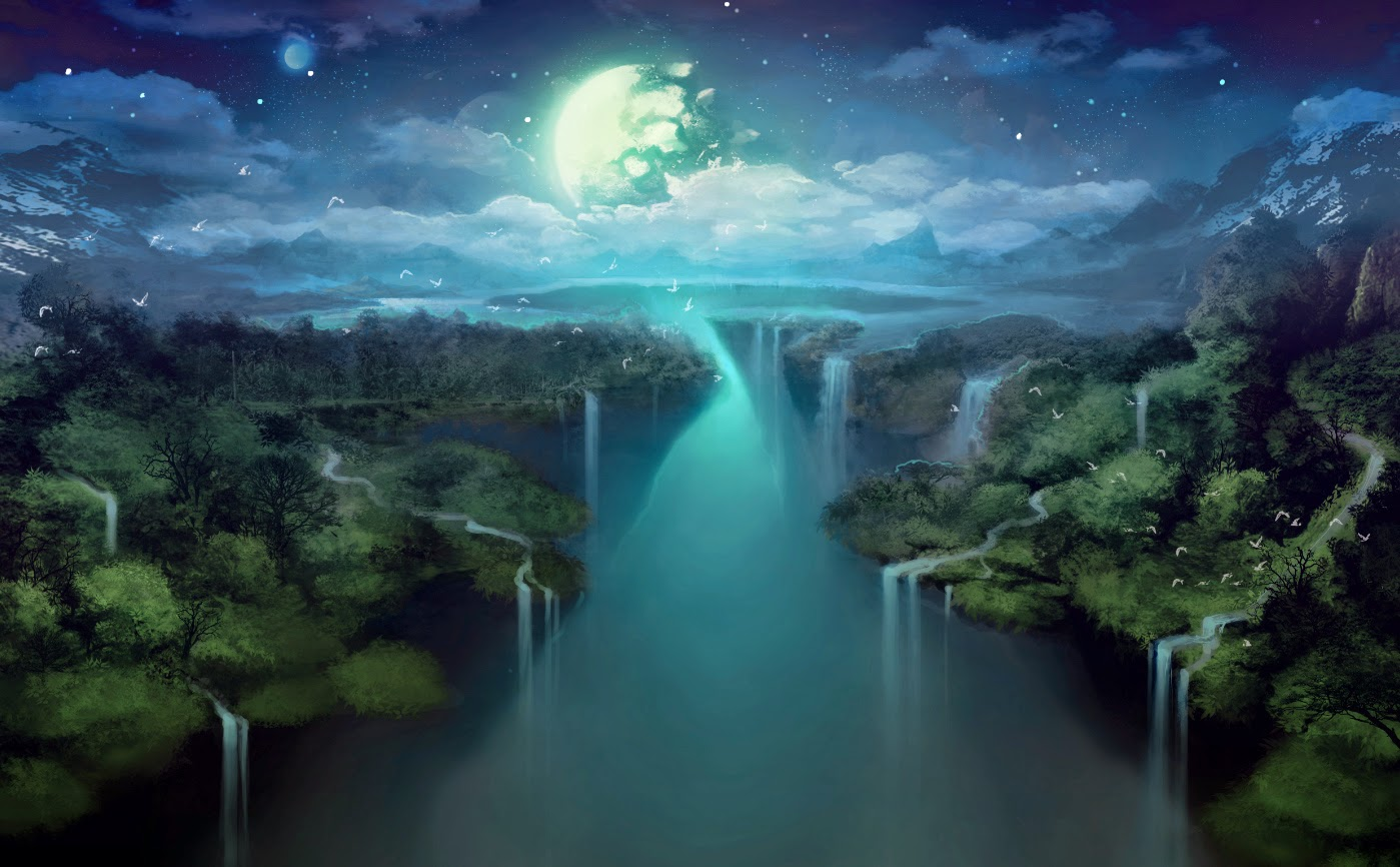 Moonlight Paintings Images