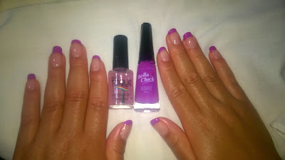Bella Chick Purple  e Novo Toque Tratamento Base Rosa