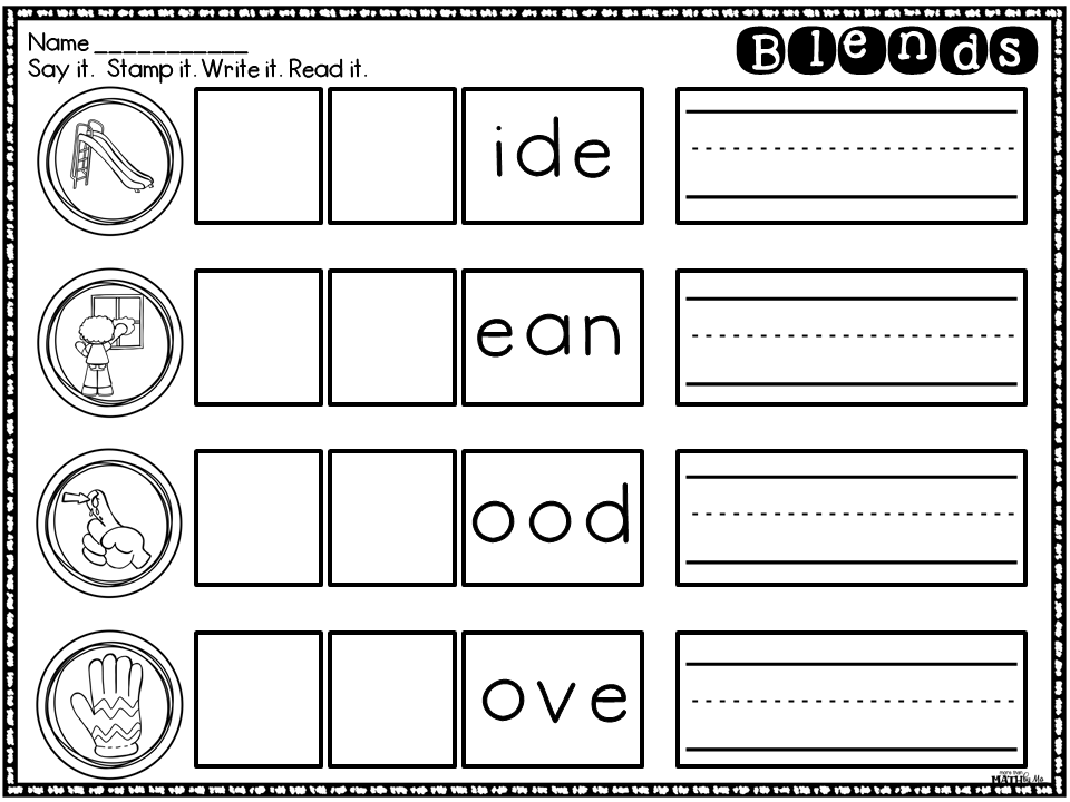 More Than Math by Mo Worksheet Wednesday FREEBIE – L Blend Worksheets