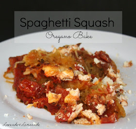 Spaghetti Squash Oregano Bake  |  Lavende & Lemonade