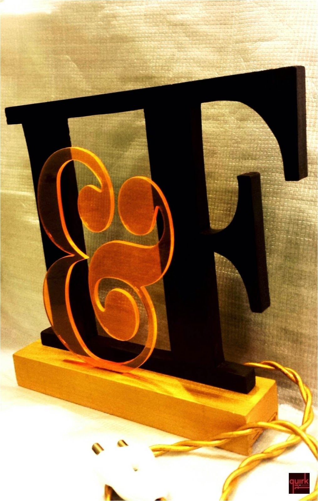 Quirk It Design_I&F - personalised lamp_DIY_Quirky_Home_Decor
