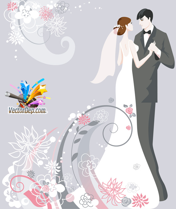 Vector background wedding