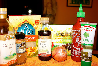 Ingredients for Asian Seafood & Mushrooms