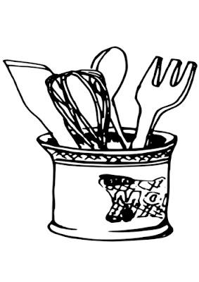 Colorea tus dibujos utensilios de cocina - Cocina dibujo ...