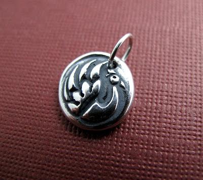 phoenix firebird sterling silver charm hint jewelry beth hemmila
